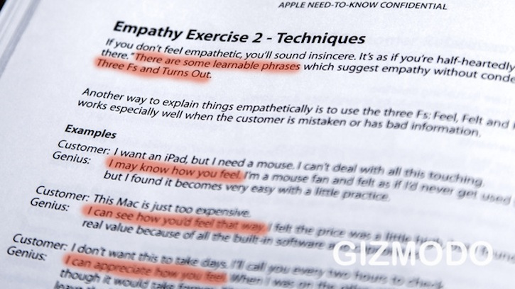 Apple&#039;s Secret Training Manual Empathy Exercises